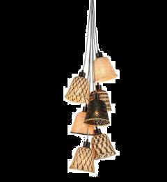 Good & Mojo Hanging lamp Kalimantan/7-shade bamboo, black/naturel