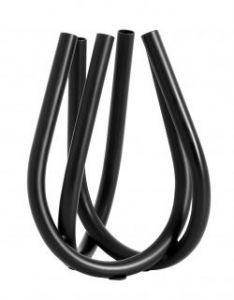 Nordal CRETE vaas, zwarte buizen, metaal | H21,5 x D15,3 cm