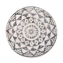 HKliving badmat rond zwart wit ø120 cm