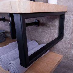 MD Interior rechthoekige handdoek beugel zwart