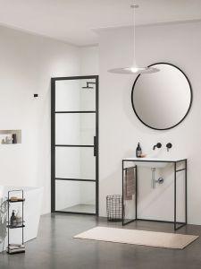 Sealskin SOHO douchedeur rechts draaiend 90x210 mat zwart