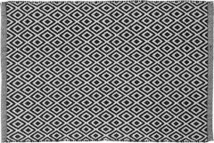 Sealskin badmat zwart ruit motief katoen 60x90