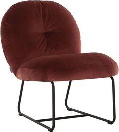 Must living Bouton fauteuil bordeaux 79x60x80 cm