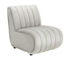 Nordal ASTI fauteuil velvet grijs 77 X 63 X 56