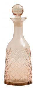 Nordal glazen karaf roze large 28 x 10 cm
