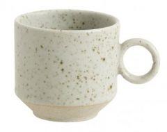Nordal GRAINY espresso mokken gebroken wit 8 stuks