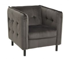 Nordal Lounge fauteuil antraciet velvet