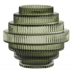 Nordal Rill vaas glas groen 16 cm x 16 cm