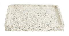 Nordal Terrazzo dienblad wit / beige 25cm