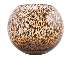 Vase the World Hudson Zambezi cheetah Ø20,5 x H25 cm