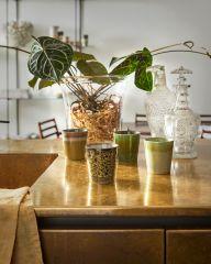 HKliving 70's ceramic coffee mug 180 ML Peat