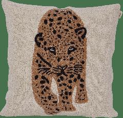 À La kralen kussen luipaardkop 35 x 35 cm