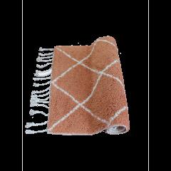 À La badmat diamant ruit terracotta / wit  80 x 50 cm