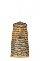 Good & Mojo Hanging lamp Kalimantan bamboo/tapered, L