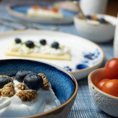 Heinen Delfts Blauw bloesem yoghurtschaaltje blauw 11 cm