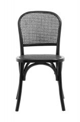 Nordal WICKY stoel vlechtwerk zwart | 45 x 42 x 86 cm