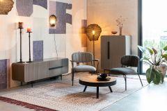 MD Interior loungestoel Jolien donker grijs / zwart- set van 2