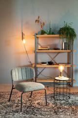 MD Interior loungestoel Jolien grijs / zwart -set van 2