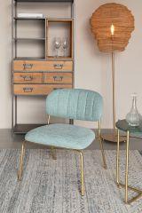 MD Interior loungestoel Jolien licht groen / goud- set van 2