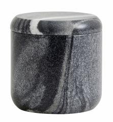 Nordal pot met deksel grijs / zwart marmer