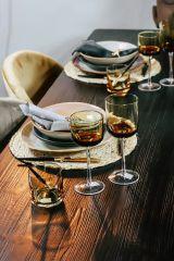 Nordal RETRO rode wijn glazen geel