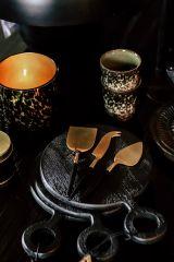 Be Home kaasbestek 3-delig goud zwart