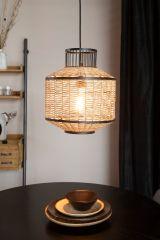 MD Interior Hanglamp Carmen M naturel en zwart