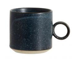 Nordal GRAINY mokken met handvat donkerblauw 4 stuks