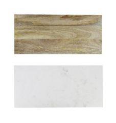 Be Home wit marmer hout omkeerbaar plateau