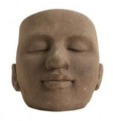 Nordal KOTLIN face bloempot bruin | Ø22 x H23 cm