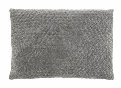 Nordal MIZAR velvet kussenhoes grijs 48 x 68 cm