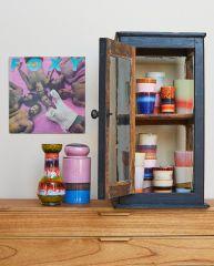 HKliving 70's ceramic storage jar Reef