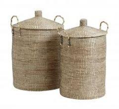 Nordal LAUDY handgemaakte manden, set van 2, naturel/zwart
