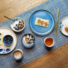 Heinen Delfts Blauw bloesem dipschaaltje blauw 8 cm