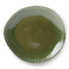 HKliving 70's ceramic Green dinner plate ø29 cm