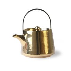 HKliving bold & basic ceramic tea pot gold 700 ml
