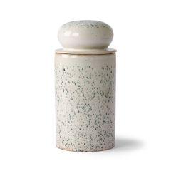 HKliving 70's ceramic storage jar Hail