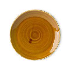HKliving kyoto ceramic japanese dinner plate brown