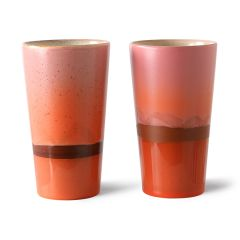 HKliving 70's ceramic latte mug Mars