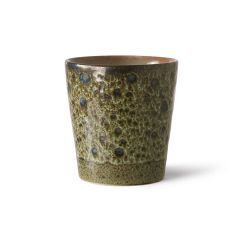 HKliving 70's ceramic coffee mug 180 ML Vulcano