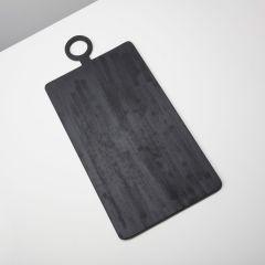 Be Home serveerplank mangohout zwart 83x40 cm
