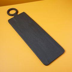 Be Home serveerplank mangohout zwart 74x21cm