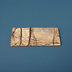 Be Home snijplank bosmarmer oranje bruin 30x12cm