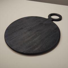 Be Home broodplank mangohout zwart ø36