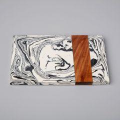 Be Home Zebra serveerplank marmer hout 30 cm
