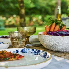 Heinen Delfts Blauw Bloesem Saladeschaal