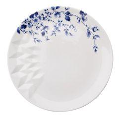 Heinen Delfts Blauw vouw dinerbord 28 cm