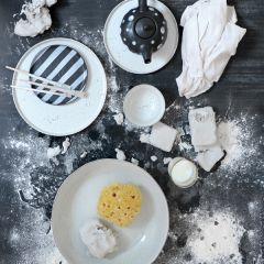 HKliving bold & basic ceramic dinner plate Ø28 cm