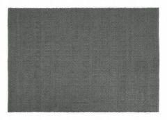 Dixie buiten vloerkleed PET donker grijs visgraat 290 x 190