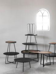 DTP Home Highlight salontafel Saturnus Medium zwart Ø50